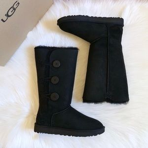 UGG Black Bailey Button Triplet II Boots